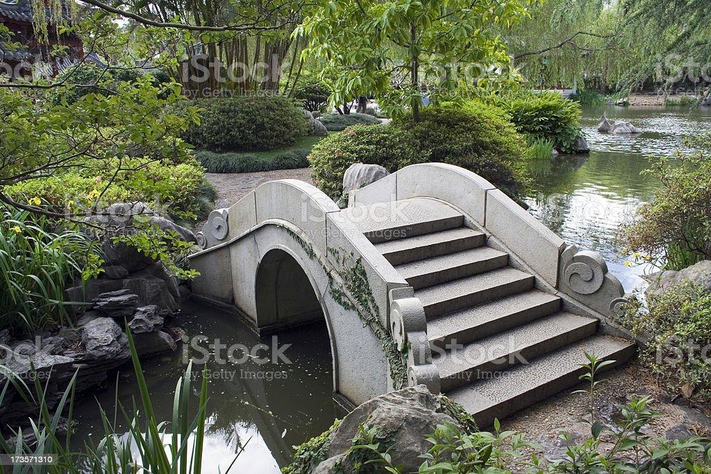 Chinese Garden Bridge stock photo
