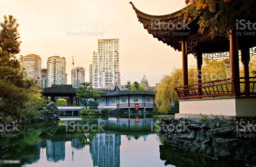 Chinese Garden Vancouver royalty-free stock photo