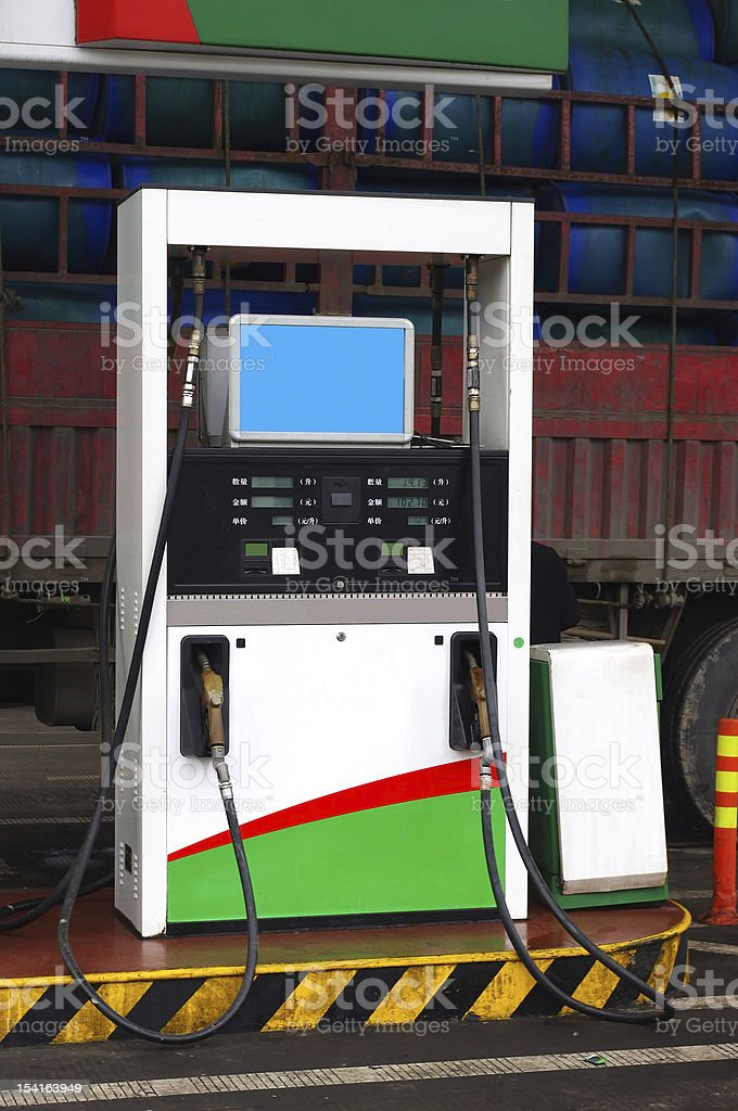Chinese gas station stock photo