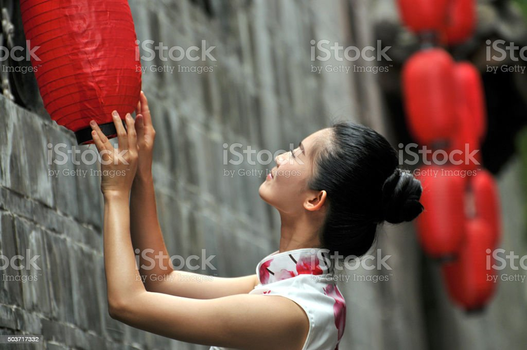 Chinese girl stock photo