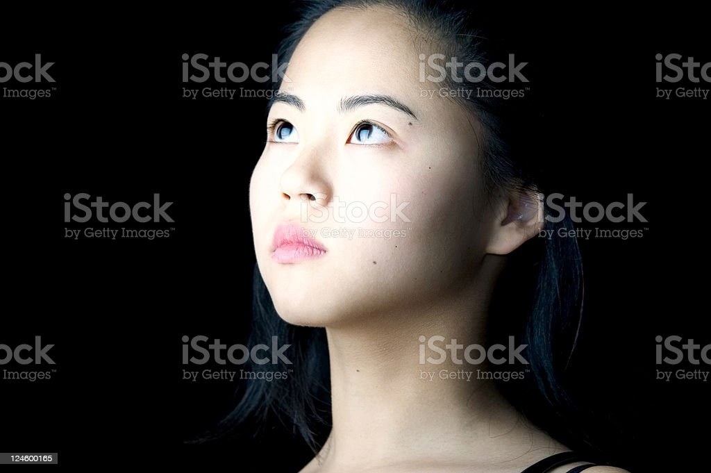 Chinese Girl Seeing The Light royalty-free stock photo