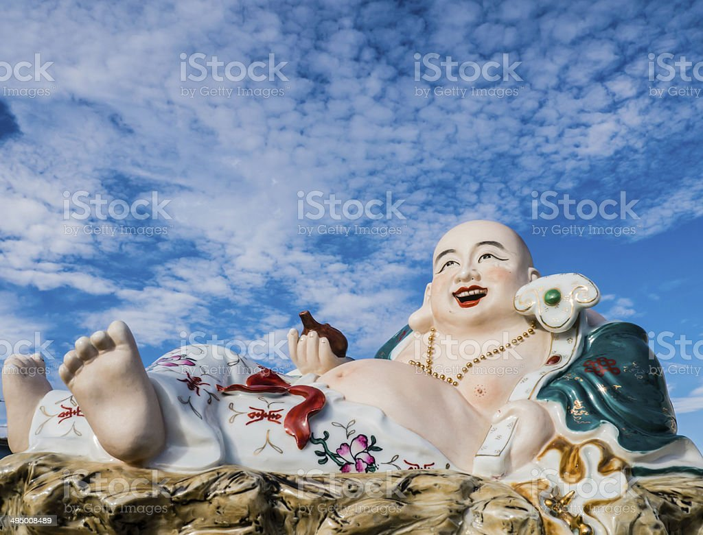 Chinese God of Happiness, Wealth and Lucky stock photo