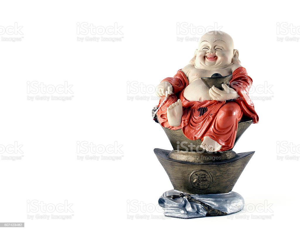 Chinese God with character 'FU' stock photo