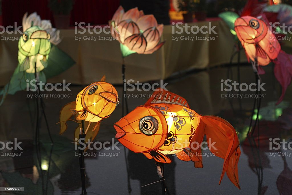 Chinese Goldfish Lanterns royalty-free stock photo