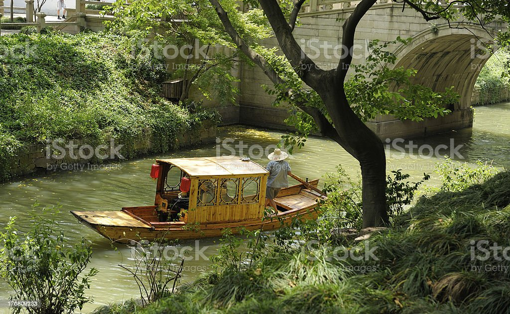 Chinese gondola stock photo
