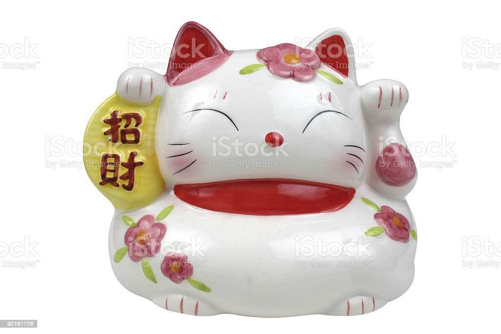 chinese goodluck cat royalty-free stock photo