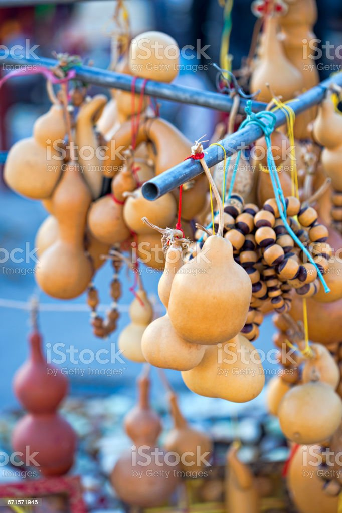 Chinese gourds decorations stock photo