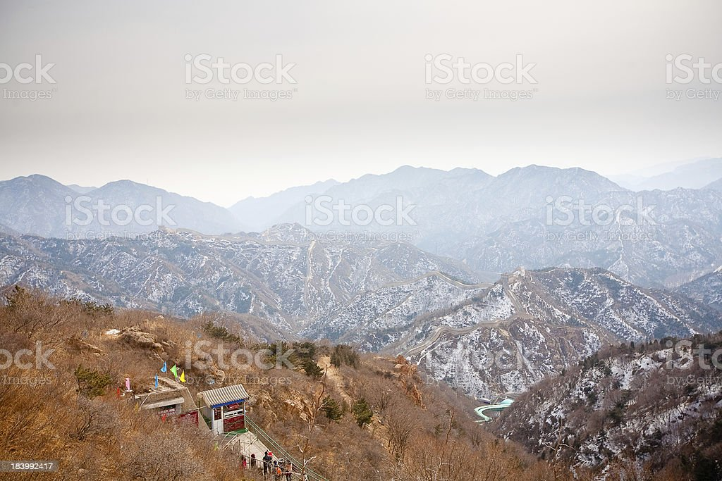 Chinese Great Wall in winter royalty-free stock photo