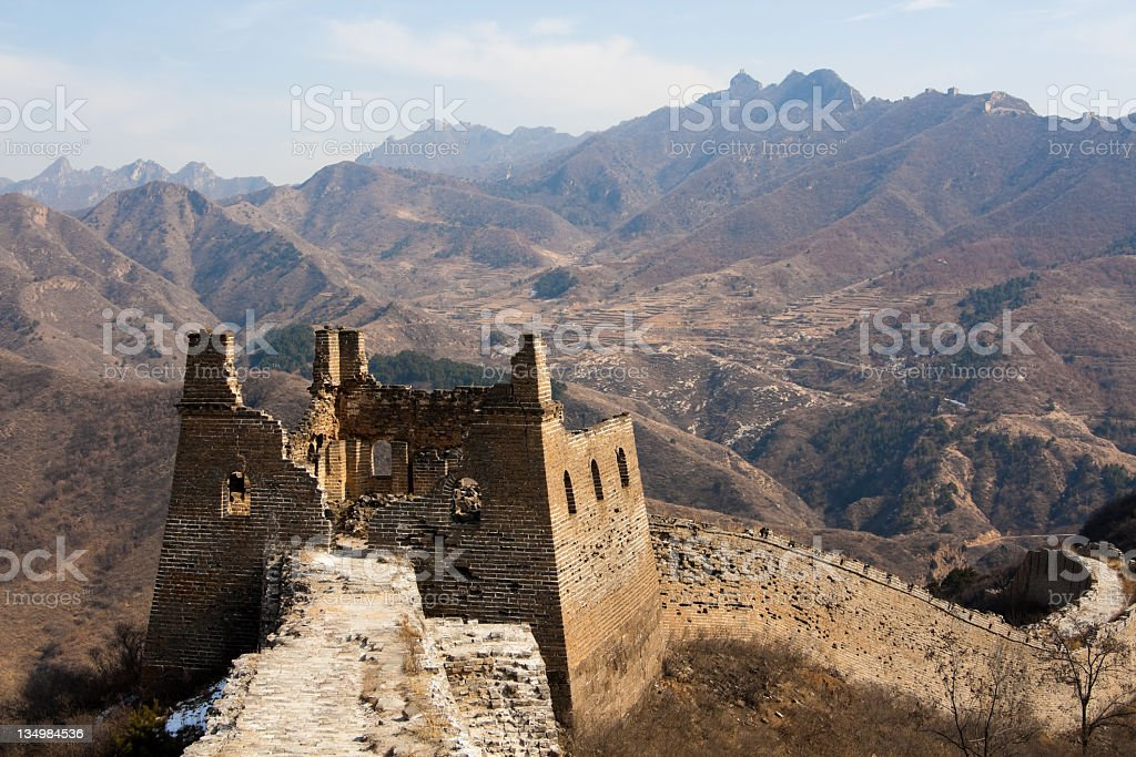 Chinese Great Wall landscape, Beijing, China stock photo