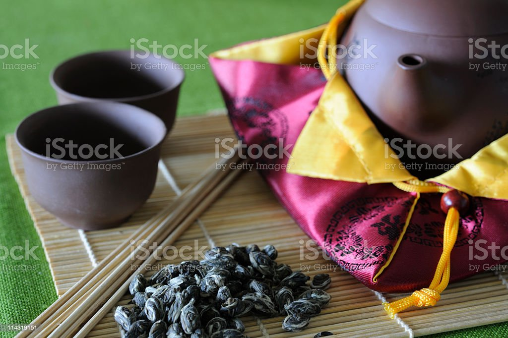 Chinese Green Tea Setting royalty-free stock photo