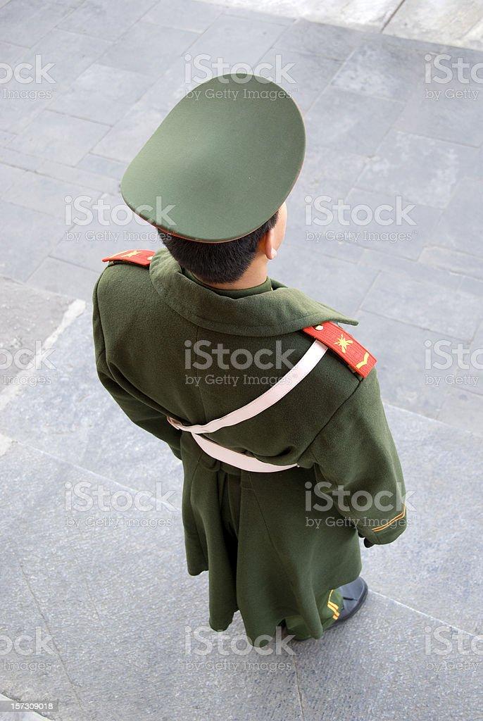 Chinese guard stock photo
