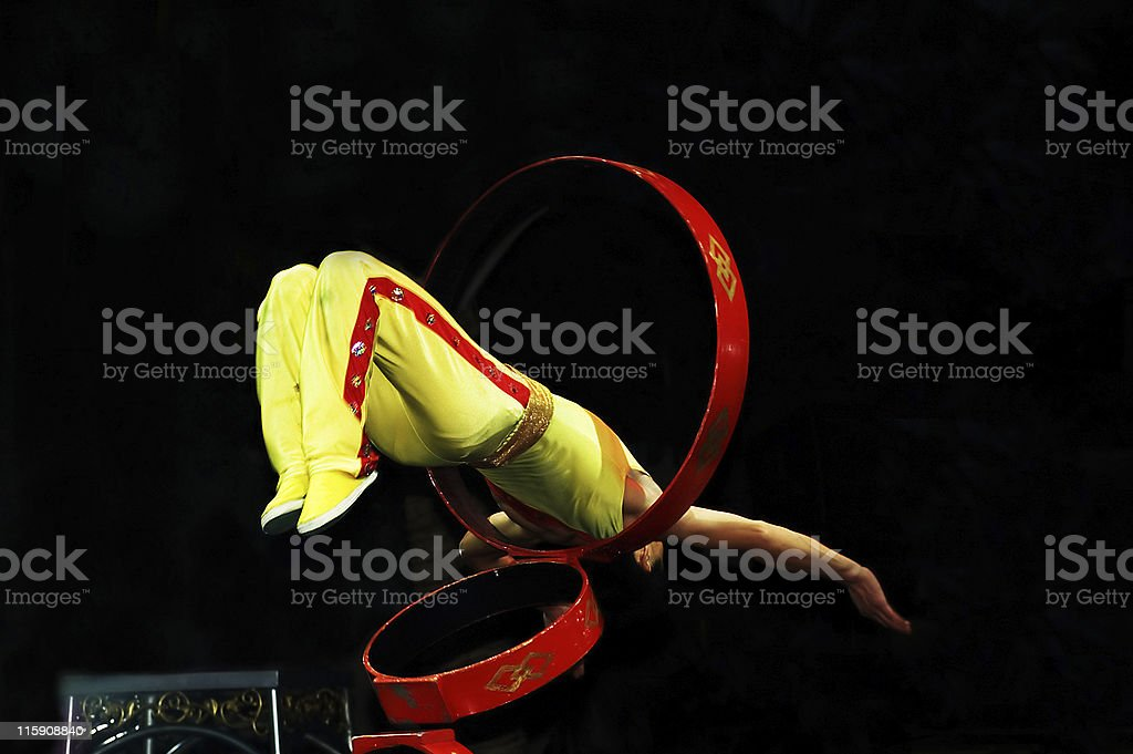 Chinese Gymnist Acrobat stock photo