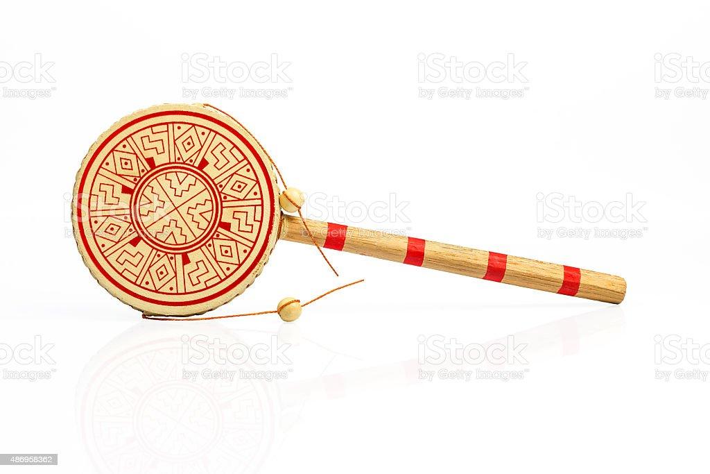 Chinese hand drum stock photo