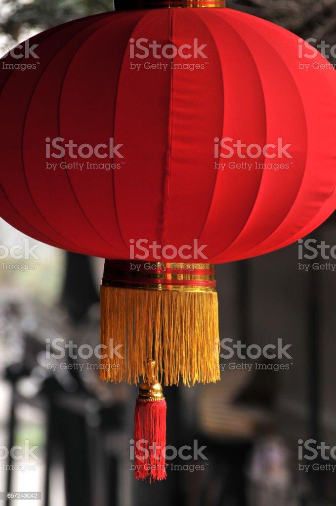 Chinese hanging lanterns stock photo
