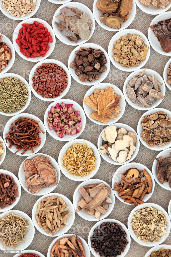 Chinese Herb Ingredients stock photo