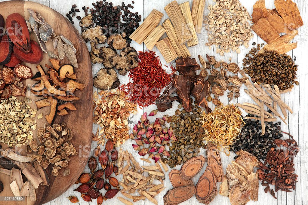 Chinese Herbal Medicine stock photo