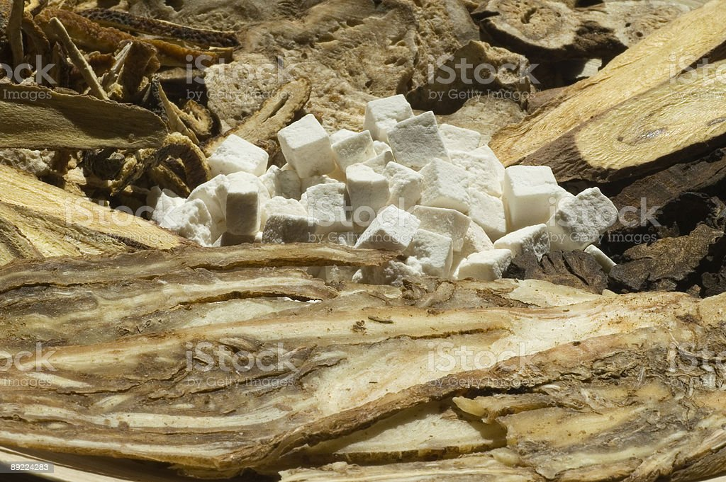 Chinese herbs, close-up royalty-free stock photo