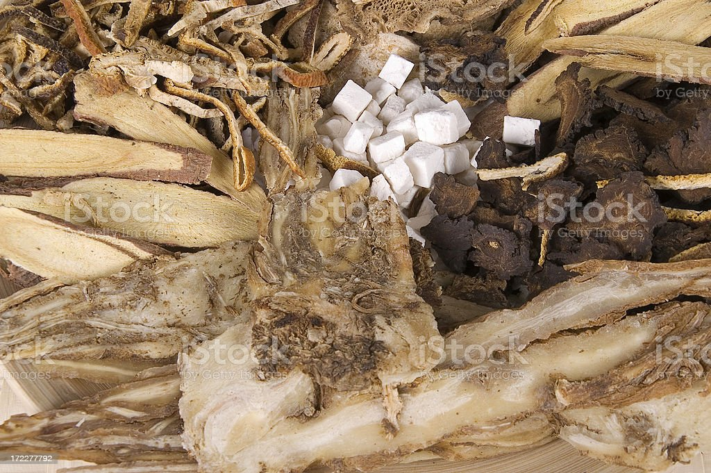 Chinese herbs - part II royalty-free stock photo
