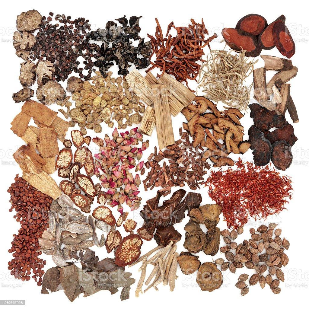 Chinese Herbs stock photo