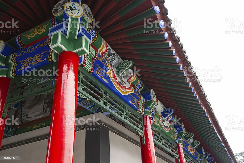 Chinese historic building detail royalty-free stock photo