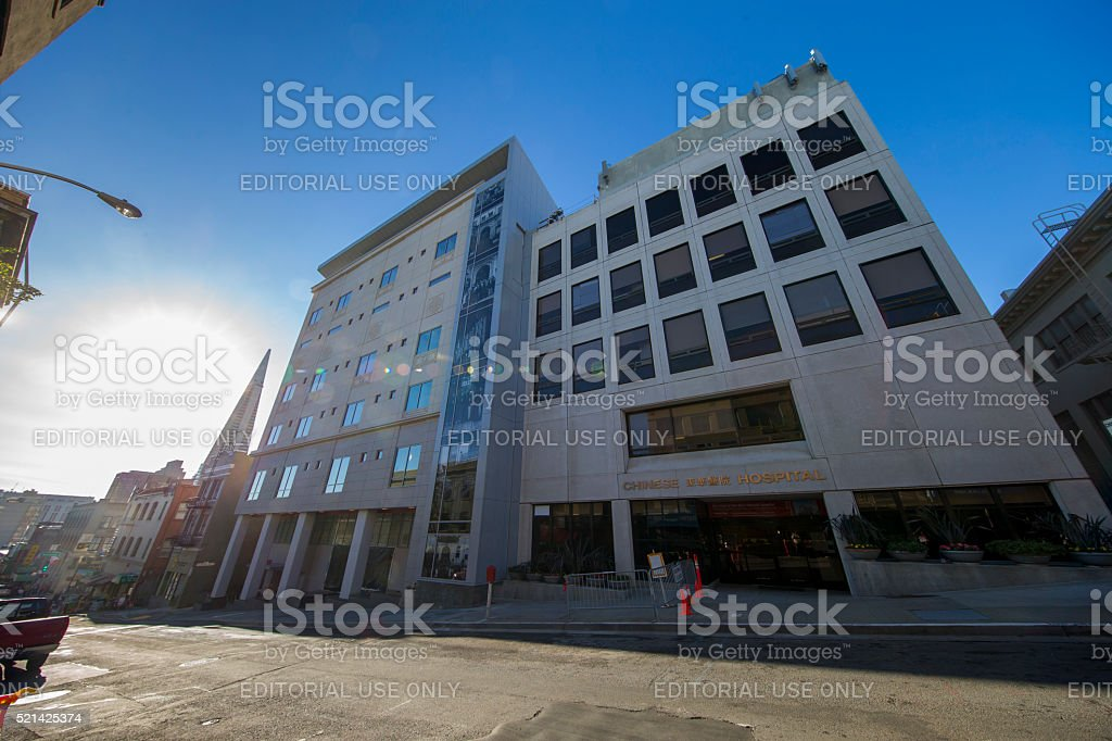Chinese Hospital in San Francisco Downtown stock photo