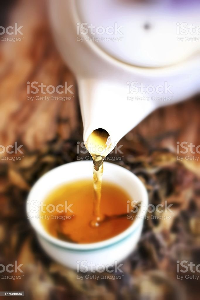 Chinese hot tea royalty-free stock photo