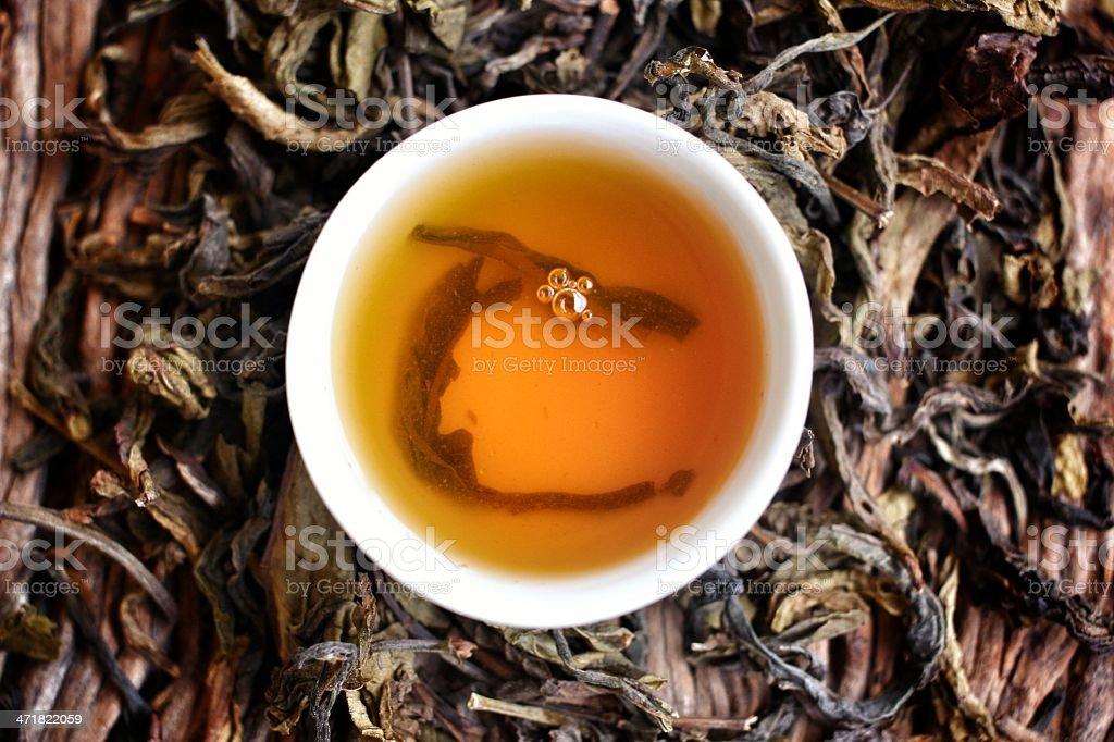 Chinese hot tea royalty-free stock photo