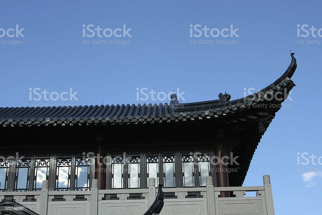 chinese house detail royalty-free stock photo