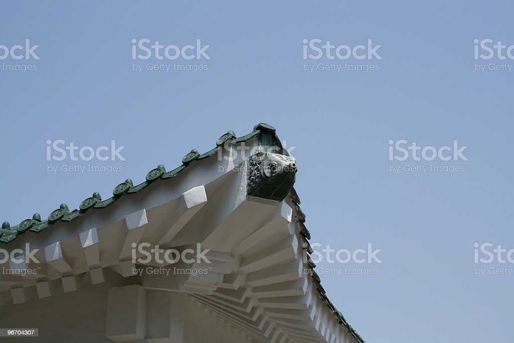 Chinese House Tile Roof royalty-free stock photo