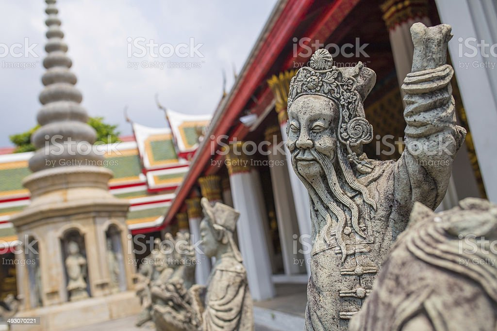 Chinese Imperial Lion. Buddhist Golden Temple stock photo