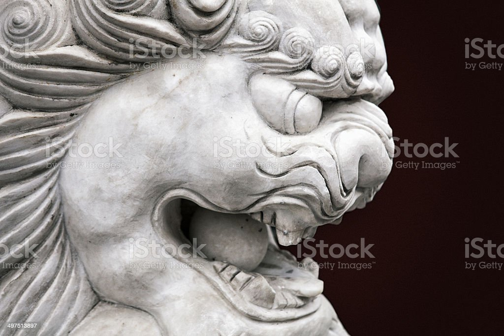 Chinese Imperial Lion stock photo