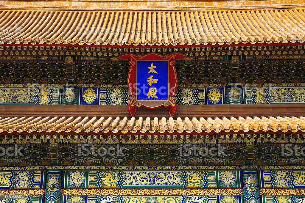 Chinese Imperial Rooftop and Eaves stock photo