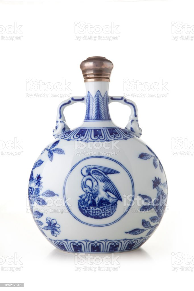 Chinese jar. stock photo