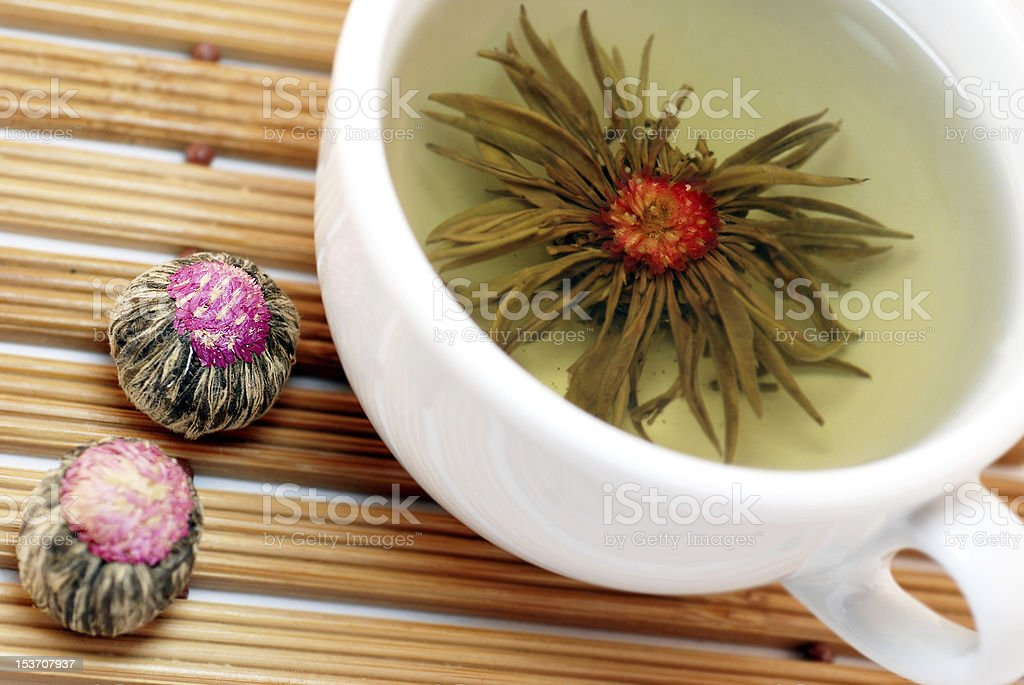 Chinese jasmine tea stock photo