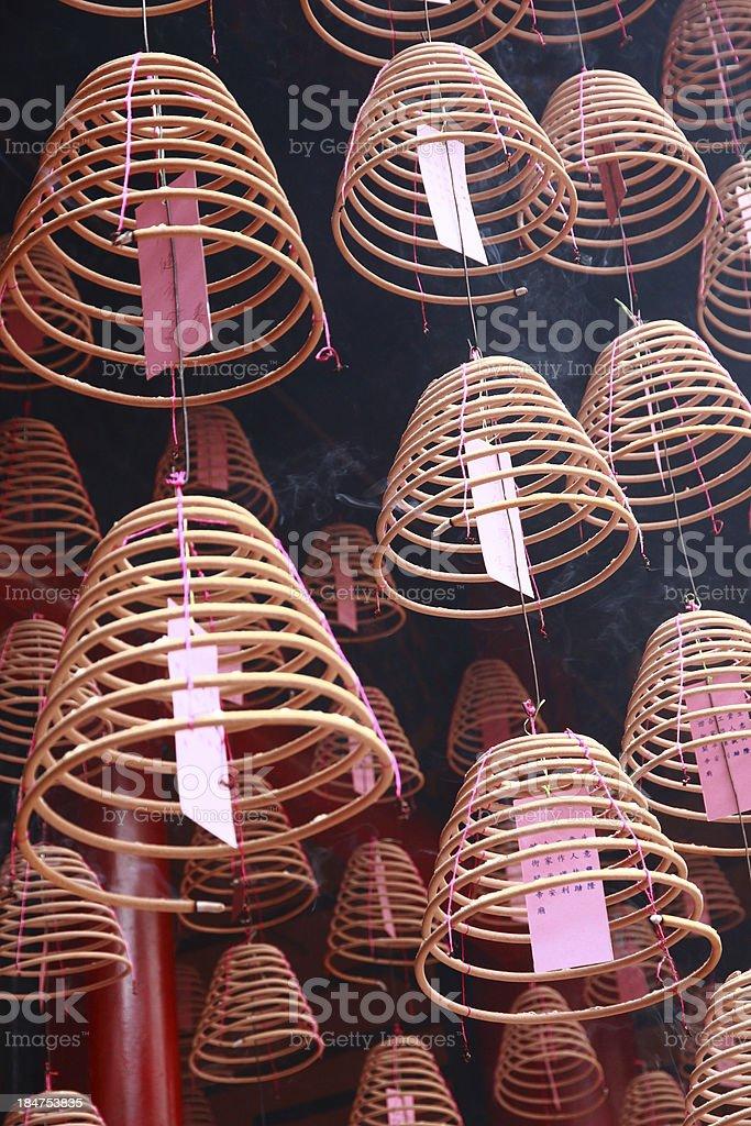 chinese joss sticks royalty-free stock photo