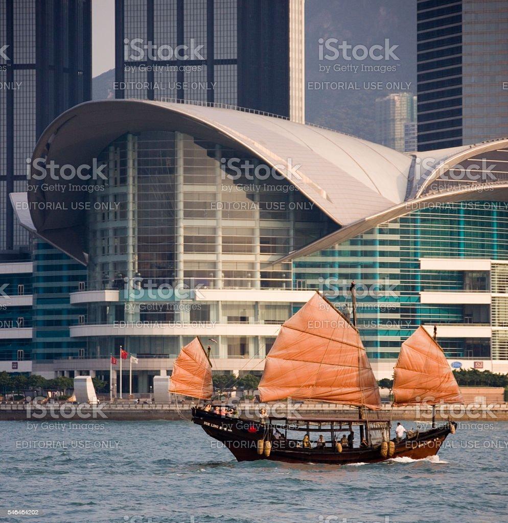 Chinese Junk - Hong Kong stock photo