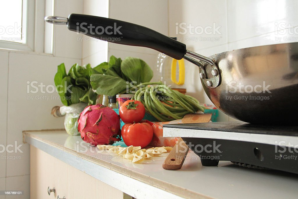 Chinese Kitchen Work Top royalty-free stock photo
