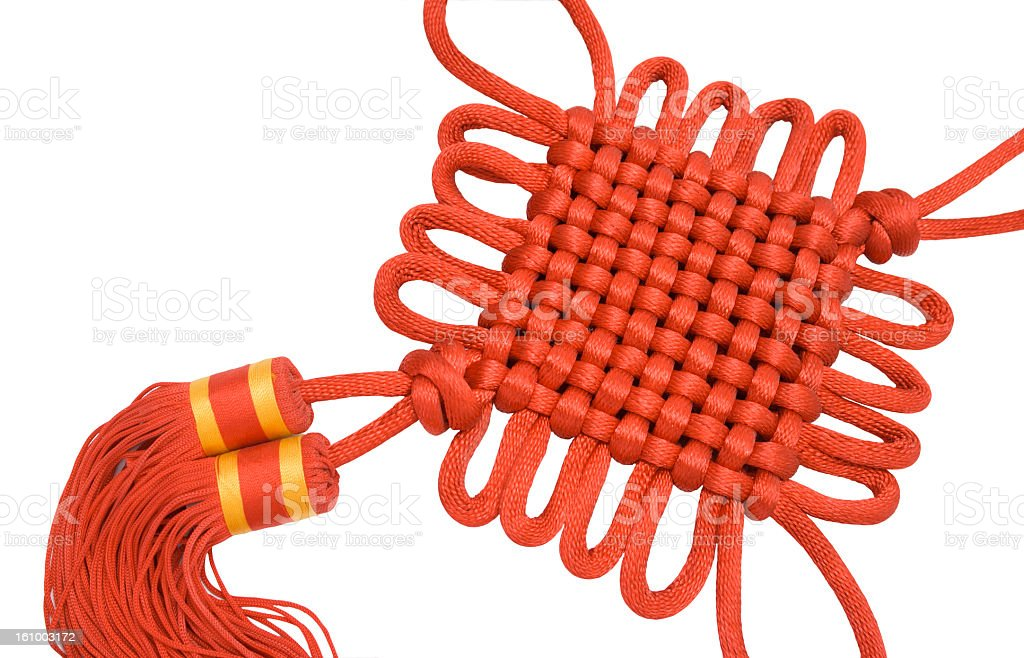 Chinese knot isolated on white stock photo