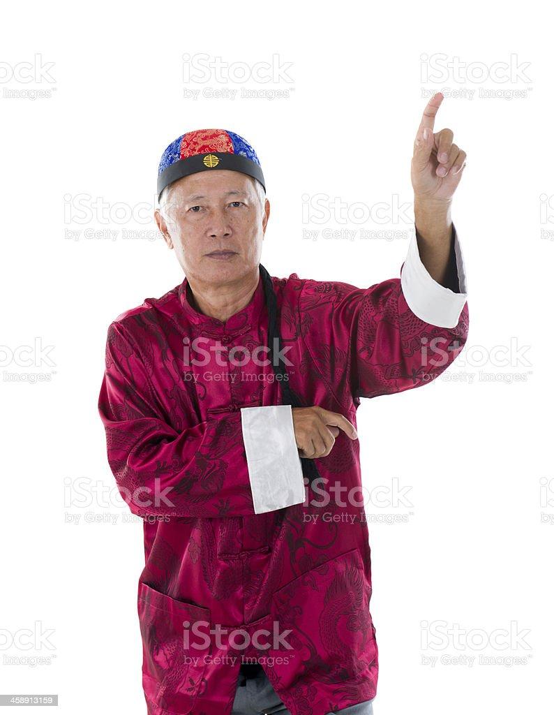 chinese kung fu master royalty-free stock photo