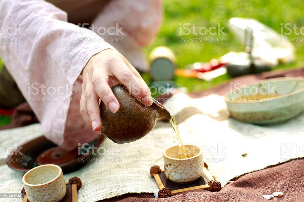 Chinese Kung Fu Tea stock photo