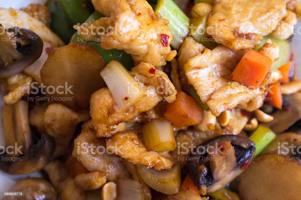 Chinese Kung Pao Chicken stock photo