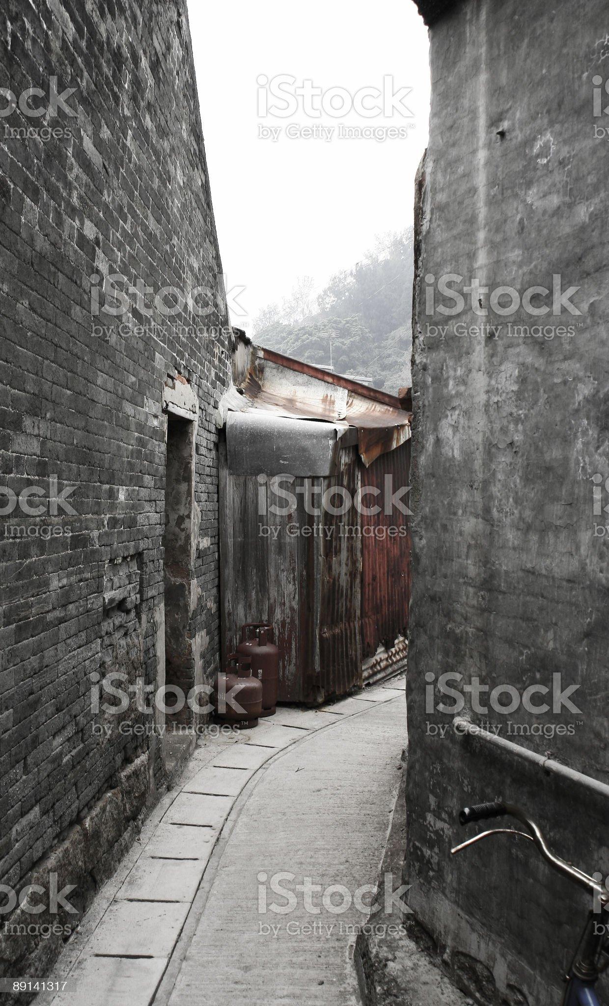 Chinese Lane royalty-free stock photo