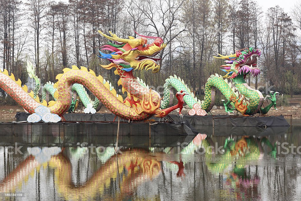 Chinese lantern dragon royalty-free stock photo