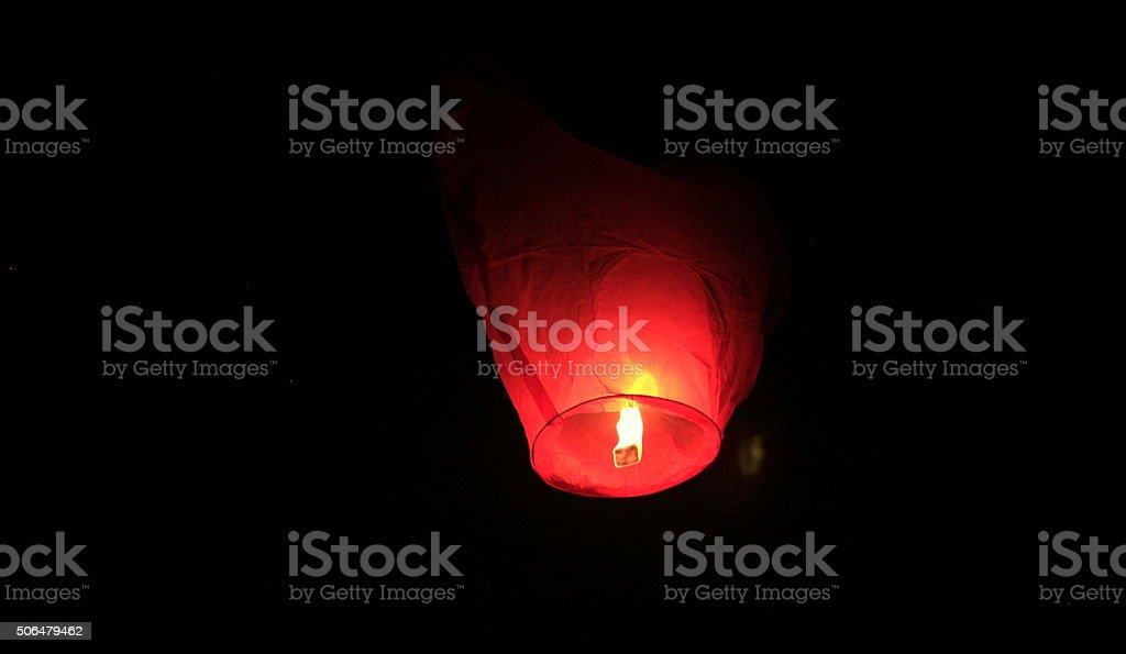 Chinese Lantern Heart-Shaped stock photo