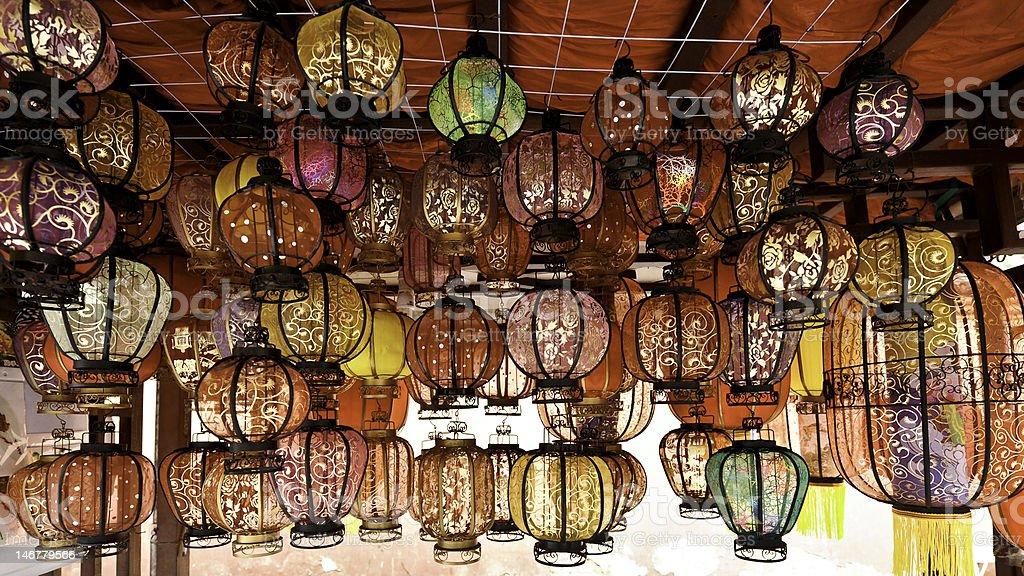 Chinese Lanterns in Chegdu, China royalty-free stock photo
