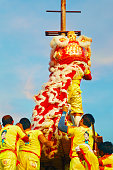 Chinese Lion Dance in Chinese New Year's Celebration