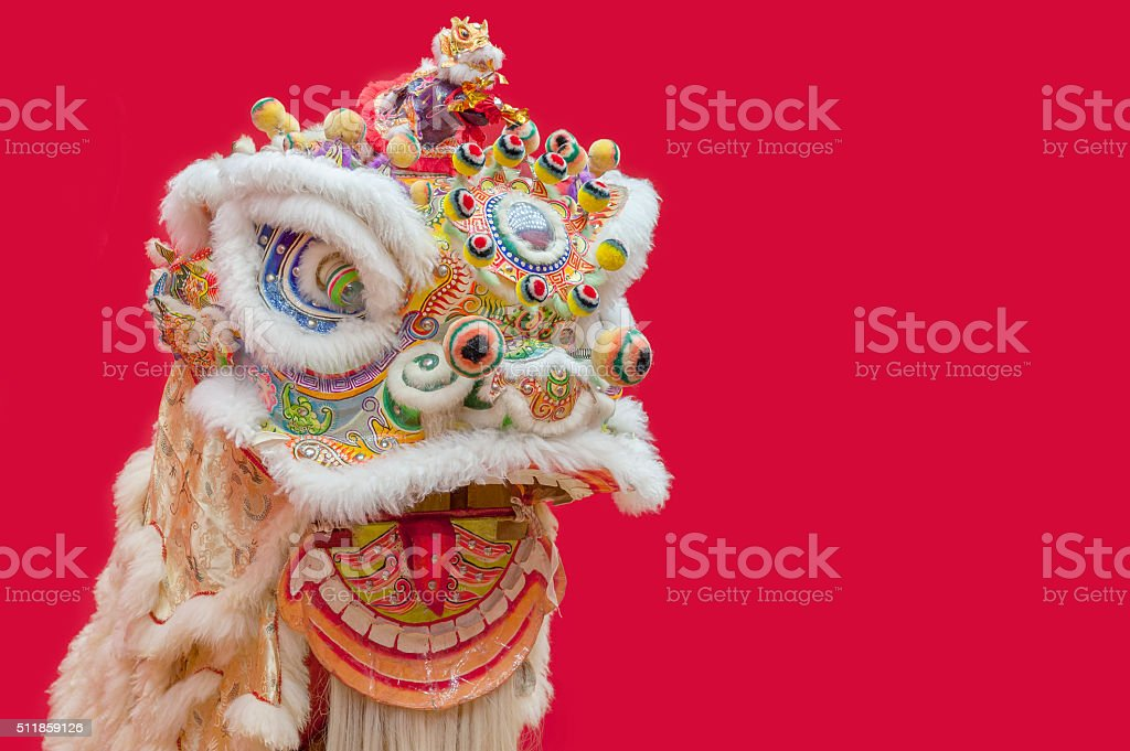 Chinese Lion Dance stock photo
