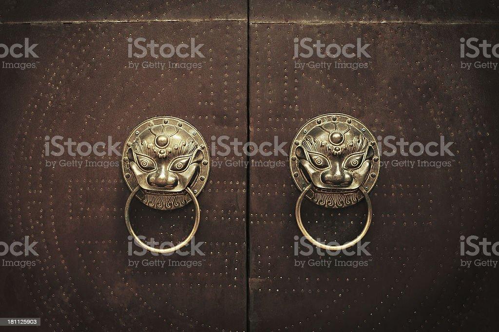 Chinese Lion Door Knocker royalty-free stock photo