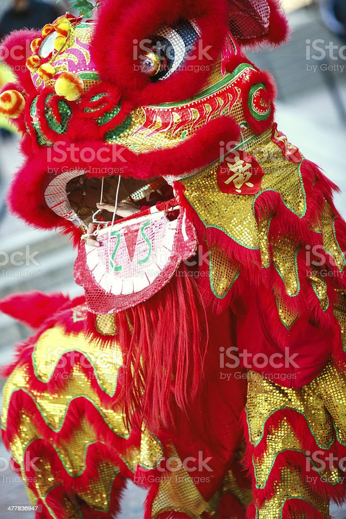 Chinese Lion Dragon Dancer stock photo