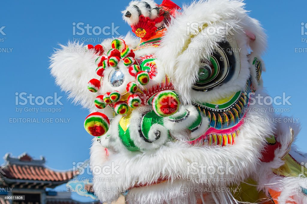 Chinese Lion during the  Golden Dragon Parade stock photo